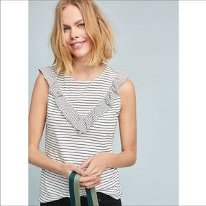 Anthropologie Maeve | Kalama Ruffle Top